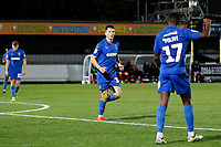 GOAL - Callum Reilly of AFC Wimbledon makes it 3-0 during the The Leasing.com Trophy match between AFC Wimbledon and Leyton Orient at the Cherry Red Records Stadium, Kingston, England on 8 October 2019. Photo by Carlton Myrie / PRiME Media Images.