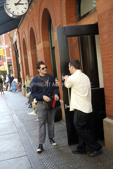 WWW.ACEPIXS.COM . . . . .  ....NEW YORK, MAY 9, 2005....Johnny Knoxville seen entering his downtown hotel.....Please byline: Ian Wingfield - ACE PICTURES..... *** ***..Ace Pictures, Inc:  ..Craig Ashby (212) 243-8787..e-mail: picturedesk@acepixs.com..web: http://www.acepixs.com