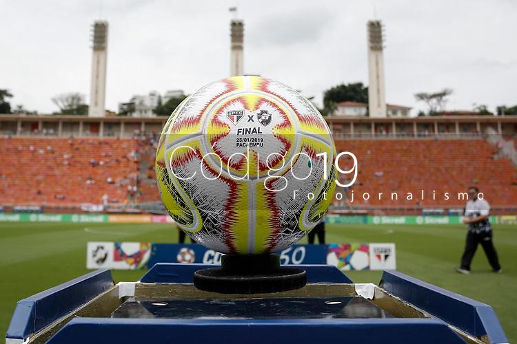 SÃO PAULO, SP 25.01.2019: SÃO PAULO-VASCO - Bola. São Paulo e Vasco, em jogo válido pela final da Copa São Paulo de Futebol Júnior 2019, no estádio Pacaembu, zona oeste da capital. (Foto: Ale Frata/Codigo19)