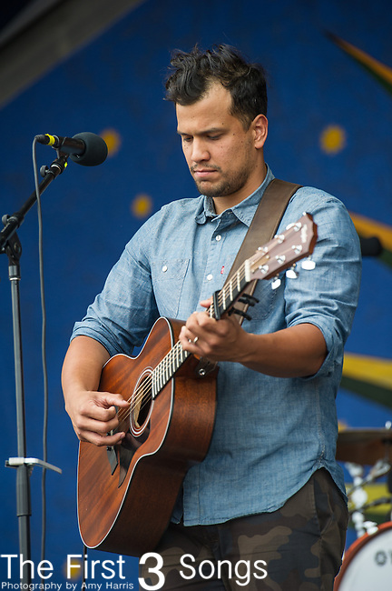 Abner Ramirez of Johnnyswim performs during the New Orleans Jazz & Heritage Festival in New Orleans, LA.