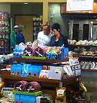 ..AbilityFilms@yahoo.com.805-427-3519.www.AbilityFilms.com...June 22nd 2012   Exclusive  .Friday Night ..Guy Pearce shopping at Whole Foods Super Market in West Hollywood with his wife Kate Mestitz who was showing off her big leg tattoo.. Guy's wife helped him pick out food in the buffet isle & laughed & joked with him while waiting in line.  Guy paid for all the food but had his wife bag & carry it to the car. Guy was wearing a shirt that said Cheap & Easy ...AbilityFilms@yahoo.com.805-427-3519.www.AbilityFilms.com.