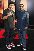 "HOLLYWOOD, LOS ANGELES, CA, USA - MAY 08: Oshea Jackson Jr., Ice Cube at the Los Angeles Premiere Of Warner Bros. Pictures And Legendary Pictures' ""Godzilla"" held at Dolby Theatre on May 8, 2014 in Hollywood, Los Angeles, California, United States. (Photo by Xavier Collin/Celebrity Monitor)"
