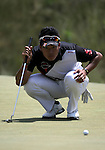 Hideki Matsuyama (JPN),<br /> June 15, 2013 - Golf :<br /> Hideki Matsuyama of Japan lines up on 17th hole during the third round of the U.S. Open Championship at the Merion Golf Club, East course in Haverford Township, Delaware Country, Pennsylvania. (Photo by Koji Aoki/AFLO SPORT) [0008]