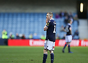 17th March 2019, The Den, London, England; The Emirates FA Cup, quarter final, Millwall versus Brighton and Hove Albion; Shane Ferguson of Millwall in shock after Referee Christopher Kavanagh shown the Millwall player a red card for shoving Lewis Dunk of Brighton & Hove Albion on the pitch