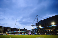 A general view of the Cardiff Arms Park during the match. Amlin Challenge Cup Final, between Bath Rugby and Northampton Saints on May 23, 2014 at the Cardiff Arms Park in Cardiff, Wales. Photo by: Rogan Thomson / Onside Images