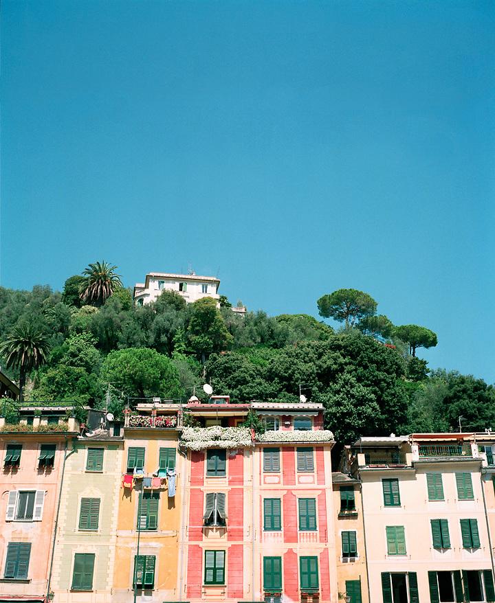 Row of colorful houses in Portofino, Liguria, ITALY