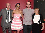 Cormac Coyle and Aoife Duff celebrating their engagement in Brú with Cormac's grandparents Val and Breda Sweeney. Photo:Colin Bell/pressphotos.ie
