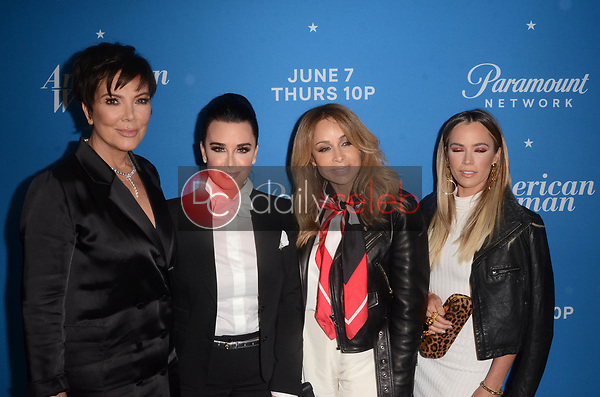 "Kris Jenner, Kyle Richards, Faye Resnick, Teddi Mellencamp<br /> at the ""American Woman"" Premiere Party, Chateau Marmont, Los Angeles, CA 05-31-18<br /> David Edwards/DailyCeleb.com 818-249-4998"