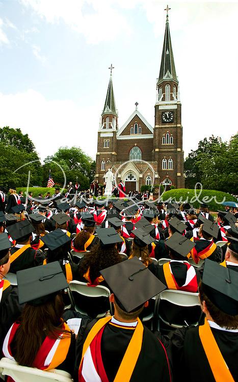 Belmont Abbey College Graduation 2009 in Belmont North Carolina, near Charlotte, NC.