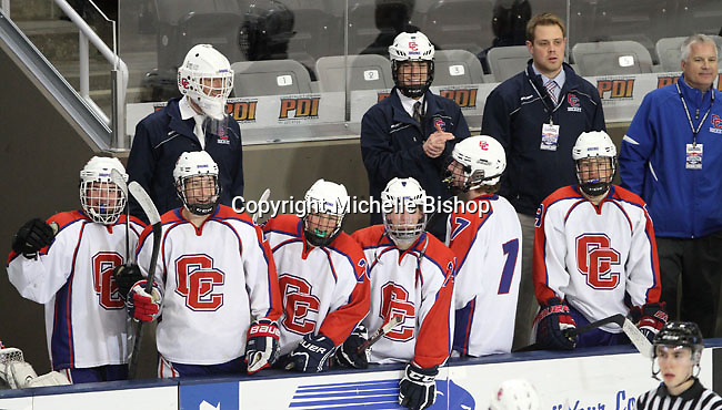 Cherry Creek (Colorado) beat Medina (Ohio) 5-1 on the third day of pool play during the 2014 High School Hockey National Championship in Omaha on March 28. (Photo by Michelle Bishop)
