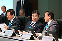 (L-R) Naoki Inose, Masato Mizuno, Taro Aso, MARCH 4, 2013 : General view before presentations of Tokyo 2020 bid Committee at Palace Hotel, Tokyo, Japan. (Photo by AFLO SPORT)