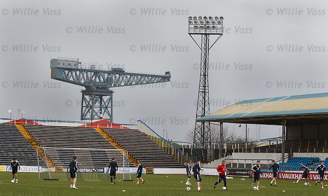Scotland training at Cappielow Park, Greenock