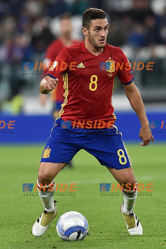 Koke Spain <br /> Torino 06-10-2016 Juventus Stadium <br /> World Cup Qualifiers Italy - Spain / Italia - Spagna. Foto Andrea Staccioli / Insidefoto