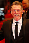 "13 February 2012 Berlin Germany. Actor JOHN HURT arrives for the screening of the film ""Jayne Mansfield's Car"" at the 62nd International film festival Berlinale."