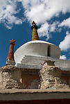 LAMAYURU GOMPA, LADAKH, HIMALAYA, INDIA - SEPTEMBER 29, 2009: The Lamayuru Gompa is the oldest in Ladakh dating back to the 10th century. It is set atop a towering cliff. According to a legend it was once the bottom of an ancient lake. (Photo by Dirk Markgraf)