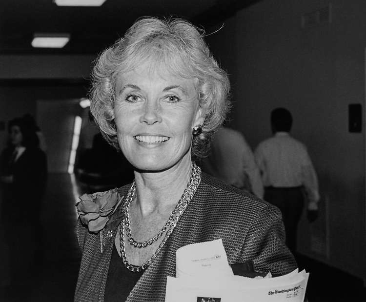 Rep. Jennifer Dunn, R-Wash., on Aug. 15, 1994. (Photo by CQ Roll Call via Getty Images)