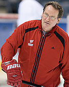Bill Howard - The University of Wisconsin Badgers practiced on Friday, April 7, 2006, at the Bradley Center in Milwaukee, Wisconsin.  The following evening the Badgers defeated Boston College 2-1 to win the Title.