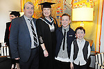 21/11/2014  Attending the Irish College of Humanities and Applied Science Conferrings in The Castletroy Park Hotel were Noelle Hedderman, Fedamore, who was conferred with a B.A Hons in Counselling and Psychotherapy, with Shean, Caillum and Michael Hedderman.<br /> Picture: Gareth Williams