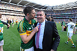 Marc O'Se and Pat O'Sullivan celebrate  in the All-Ireland Football Final against Donegal in Croke Park 2014.<br /> Photo: Don MacMonagle<br /> <br /> <br /> Photo: Don MacMonagle <br /> e: info@macmonagle.com