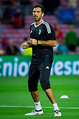 12th September 2017, Camp Nou, Barcelona, Spain; UEFA Champions League Group stage, FC Barcelona versus Juventus; Gianluigi Buffon of Juventus during the warm up