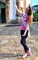 OURO PRETO, MG, 20.09.2013 - MISS BRASIL 2013 - Miss Alagoas, Nicole Rosa candidata a Miss Brasil 2013 durante visita a cidade historica de Ouro Preto a 100 km de Belo Horizonte. (Foto: Eduardo Tropia / Brazil Photo Press)