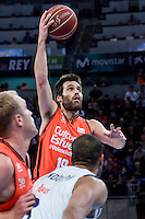 Valencia Basket's Fernando San Emeterio during Quarter Finals match of 2017 King's Cup at Fernando Buesa Arena in Vitoria, Spain. February 19, 2017. (ALTERPHOTOS/BorjaB.Hojas)