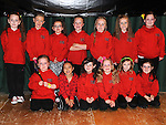 The Junior Group who took part in the DanzeMania show in Ardee parish centre. Photo: Colin Bell/pressphotos.ie