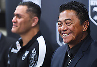 Kiwis selector Tawera Nikau and New Zealand Kiwis coach David Kidwell during a Rugby League World Cup press conference to annouunce the NZ Kiwis squad for the RLWC 2017. Auckland, New Zealand. Thursday 5 October 2017 © Copyright Photo: Andrew Cornaga / www.Photosport.nz copyright picture SWpix.com/Photosport NZ