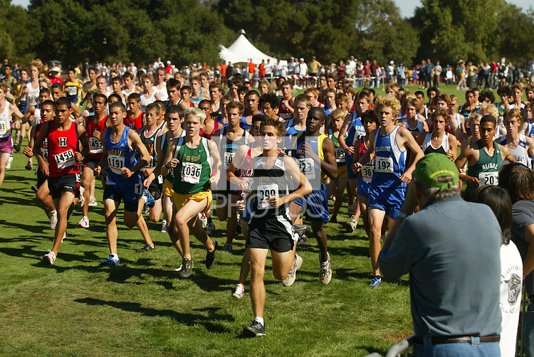 24 September 2005: Action during the Stanford Invitational cross country high school races at the Stanford Golf Course in Stanford, CA.