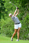 HOUSTON, TX - MAY 19: Holly Winter of West Texas A & M tees off during the Division II Women's Golf Championship held at Bay Oaks Country Club on May 19, 2018 in Houston, Texas. (Photo by Justin Tafoya/NCAA Photos via Getty Images)
