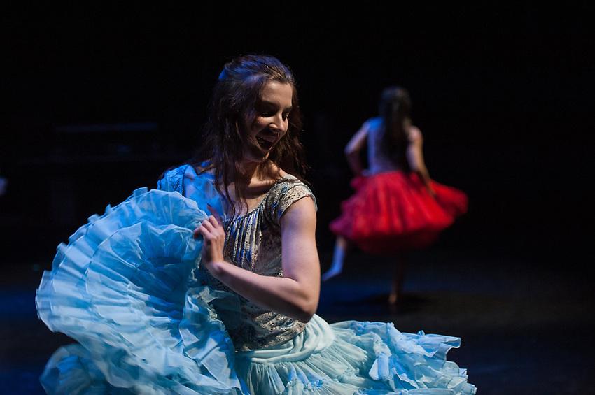 UAA's Theatre & Dance dress rehearsal for New Dances 2018 in the Fine Arts Building's Harper Studio.