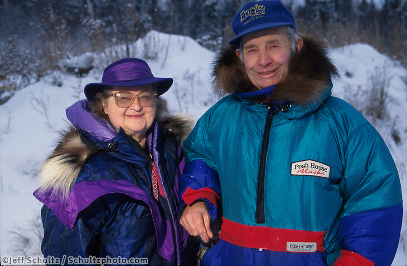 Joe & Violet Redington Knik Southcentral Ak Winter Portrait