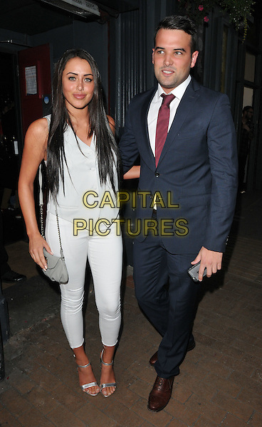 LONDON, ENGLAND - JULY 23: Marnie Simpson &amp; Ricky Rayment attend the RUComingOut.com summer party, Royal Vauxhall Tavern, Kennington Lane, on Thursday July 23, 2015 in London, England, UK.  <br /> CAP/CAN<br /> &copy;Can Nguyen/Capital Pictures