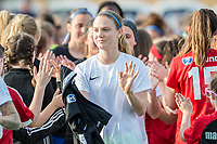 Boston, MA - Saturday April 29, 2017: Kristen McNabb and fans during a regular season National Women's Soccer League (NWSL) match between the Boston Breakers and Seattle Reign FC at Jordan Field.