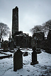 Snow today at Monasterboice Round Tower, Co.Louth...Photo NEWSFILE/Jenny Matthews.(Photo credit should read Jenny Matthews/NEWSFILE)....This Picture has been sent you under the condtions enclosed by:.Newsfile Ltd..The Studio,.Millmount Abbey,.Drogheda,.Co Meath..Ireland..Tel: +353(0)41-9871240.Fax: +353(0)41-9871260.GSM: +353(0)86-2500958.email: pictures@newsfile.ie.www.newsfile.ie.FTP: 193.120.102.198.