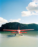 USA, Alaska, a float plane prepares for take off at Redoubt Bay, Redoubt Bay Lodge