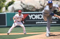 05/06/12 Anaheim, CA: Los Angeles Angels center fielder Mike Trout #27 during an MLB game against the Toronto Blue Jays played at Angel stadium. The Angels defeated the Blue Jays 4-3