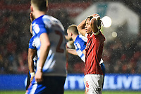 Bobby Reid of Bristol City rects after a penalty appeal is turned down during the Sky Bet Championship match between Bristol City and Reading at Ashton Gate, Bristol, England on 26 December 2017. Photo by Paul Paxford.