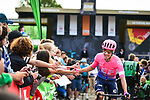 Michael Woods (CAN) EF Education First arrives at sign on before the start of the 83rd edition of La Fl&egrave;che Wallonne 2019, running 195km from Ans to Huy, Belgium. 24th April 2019<br /> Picture: ASO/Gautier Demouveaux | Cyclefile<br /> All photos usage must carry mandatory copyright credit (&copy; Cyclefile | ASO/Gautier Demouveaux)
