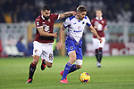 Tomas Rincon of Torino FC challenges Gaston Ramirez of Sampdoria during the Serie A match at Stadio Grande Torino, Turin. Picture date: 8th February 2020. Picture credit should read: Jonathan Moscrop/Sportimage