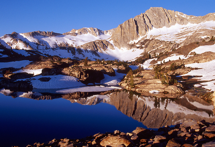 20 Lakes Basin in the Hoover Wilderness contains majestic peaks and sparkling lakes