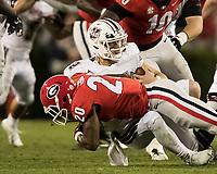 Athens, Georgia - November 17, 2018: Sanford Stadium, the number 5 ranked University of Georgia Bulldogs play the University of Massachusetts Minutemen.  Final score UGA 66 UMass 27.