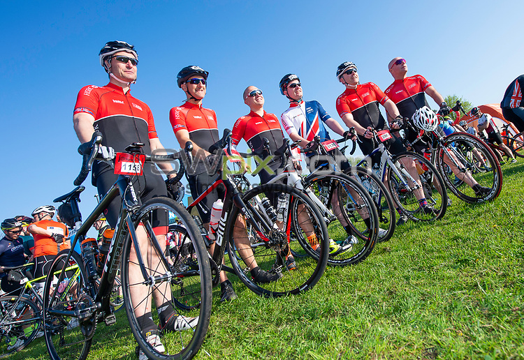 Picture by Allan McKenzie/SWpix.com - 06/05/2018 - Cycling - Maserati Human Race Sportive, Leeds, England - Riders prepare to race, HSBC UK.