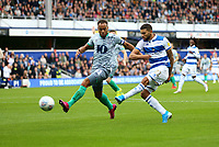 Nahki Wells of Queens Park Rangers  has a shot but is offside during Queens Park Rangers vs Blackburn Rovers, Sky Bet EFL Championship Football at Loftus Road Stadium on 5th October 2019