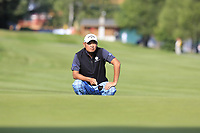 Danny Chia (MAS) on the 10th green during Thursday's Round 1 of the 2017 Omega European Masters held at Golf Club Crans-Sur-Sierre, Crans Montana, Switzerland. 7th September 2017.<br /> Picture: Eoin Clarke | Golffile<br /> <br /> <br /> All photos usage must carry mandatory copyright credit (&copy; Golffile | Eoin Clarke)