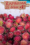 Rambutan, a tropical fruit grown on Kauai