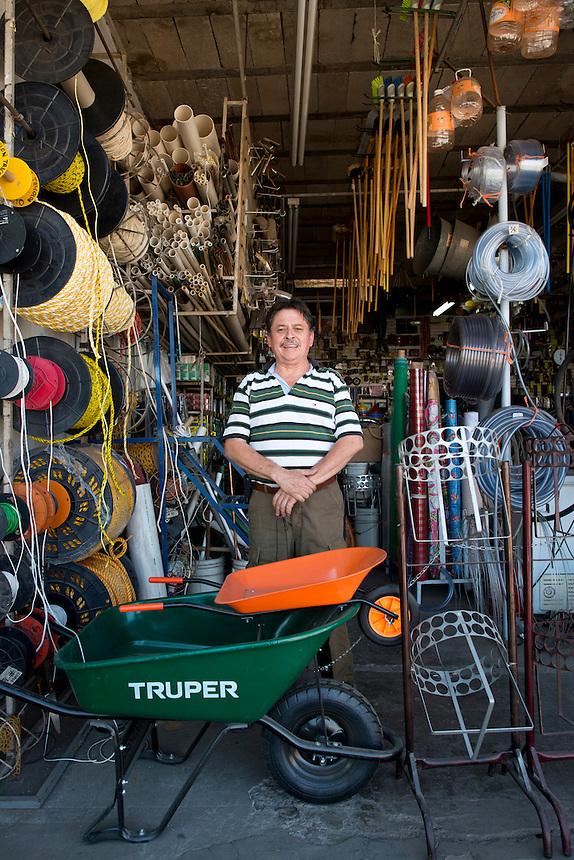 Miguel Ernesto Garcia Lopez. Hardware store owners in Culiacan, Sinaloa,  Mexico