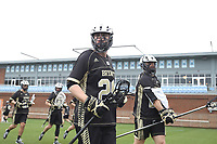 CHAPEL HILL, NC - MARCH 10: Keaton Jones #29 of Bryant University during a game between Bryant and North Carolina at Dorrance Field on March 10, 2020 in Chapel Hill, North Carolina.