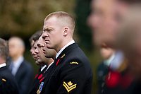 Canadian sailors from HMCS Calgary attend the Remembrance Sunday ceremony at the Hodogaya, Commonwealth War Graves Cemetery in Hodogaya, Yokohama, Kanagawa, Japan. Sunday November 11th 2018. The Hodagaya Cemetery holds the remains of more than 1500 servicemen and women, from the Commonwealth but also from Holland and the United States, who died as prisoners of war or during the Allied occupation of Japan. Each year officials from the British and Commonwealth embassies, the British Legion and the British Chamber of Commerce honour the dead at a ceremony in this beautiful cemetery. The year 2018 marks the centenary of the end of the First World War in 1918.