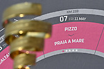 The Trofeo Senza Fine on display before the start of Stage 7 of the 2018 Giro d'Italia, a flat stage running 159km from Pizzo to Praia a Mare, Italy. 11th May 2018.<br /> Picture: LaPresse/Fabio Ferrari | Cyclefile<br /> <br /> <br /> All photos usage must carry mandatory copyright credit (&copy; Cyclefile | LaPresse/Fabio Ferrari)